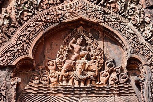 Banteay Srei Beeldhouwwerk - Siem Reap, Cambodja