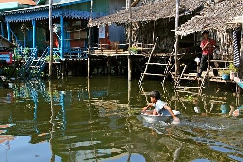 Kampong Phluk Village - Siem Reap, Cambodja