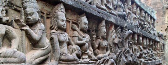 Terrace of the Leper King - Angkor Thom, Siem Reap, Cambodja